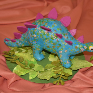 Podzim. prázd. - kreativní tvoření - dinosaurus na průzkumu